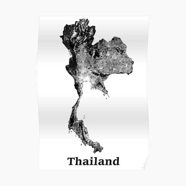 thailand map posters redbubble