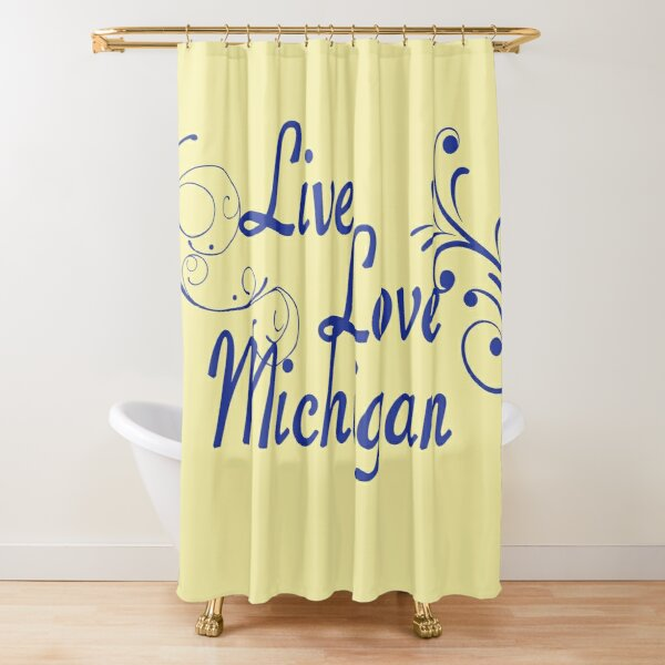 michigan wolverines shower curtains redbubble