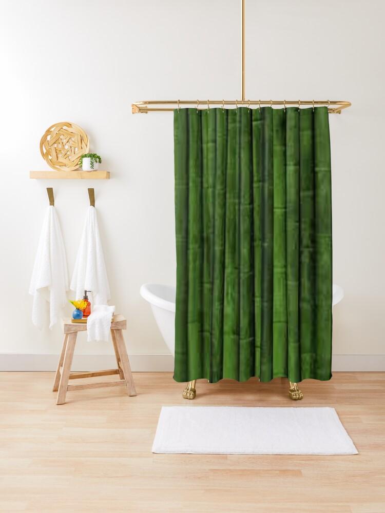 bamboo shower curtain by dermawanbijaki redbubble
