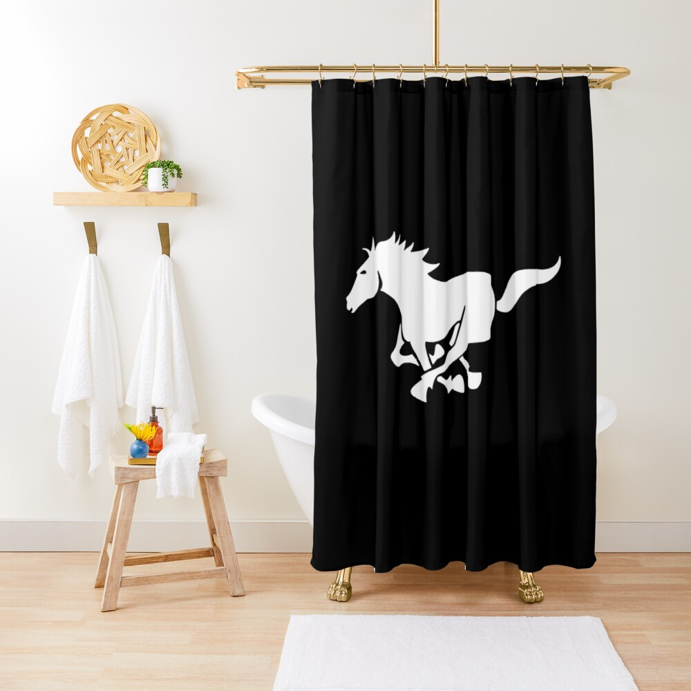 ford mustang horse shower curtain by scentedfur redbubble