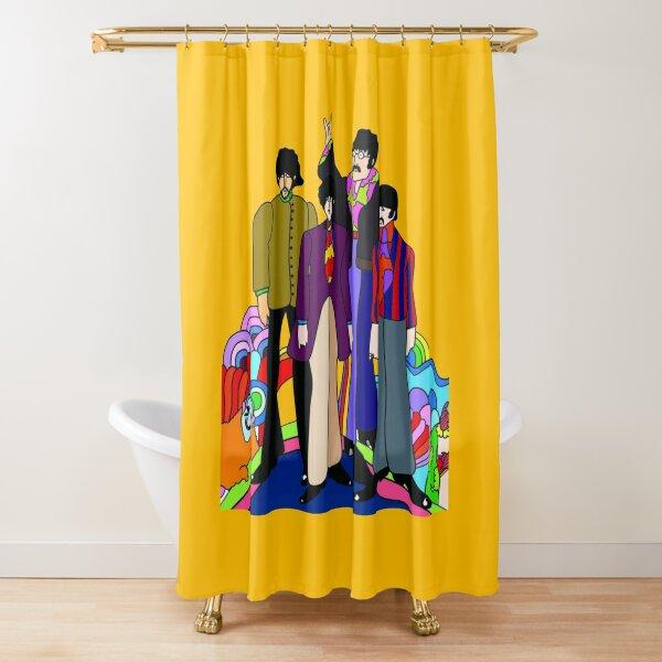 yellow submarine shower curtain by namiren redbubble