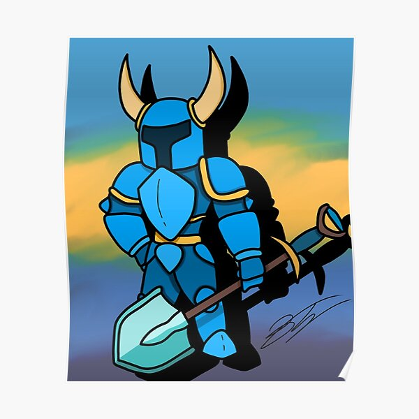shovel knight poster by daszooch redbubble