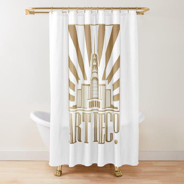 decopunk art deco architectural design style moderne icon shower curtain by bev100 redbubble
