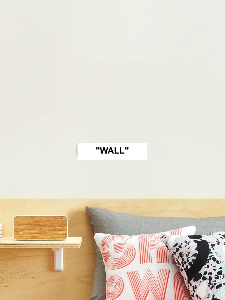 impression photo mur blanc casse par jofor redbubble