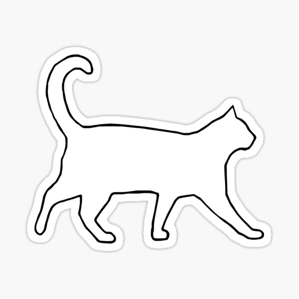 Cat Outline Stickers Redbubble