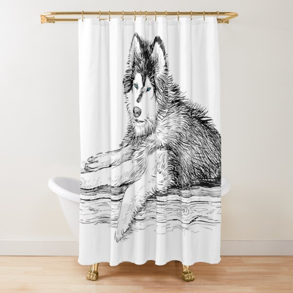 wolf quotes love shower curtains redbubble