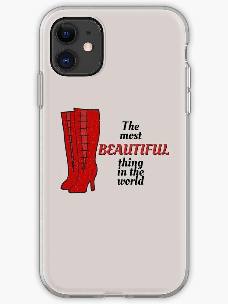 coque iphone la plus belle chose au monde bottes kinky par sammimcsporran redbubble