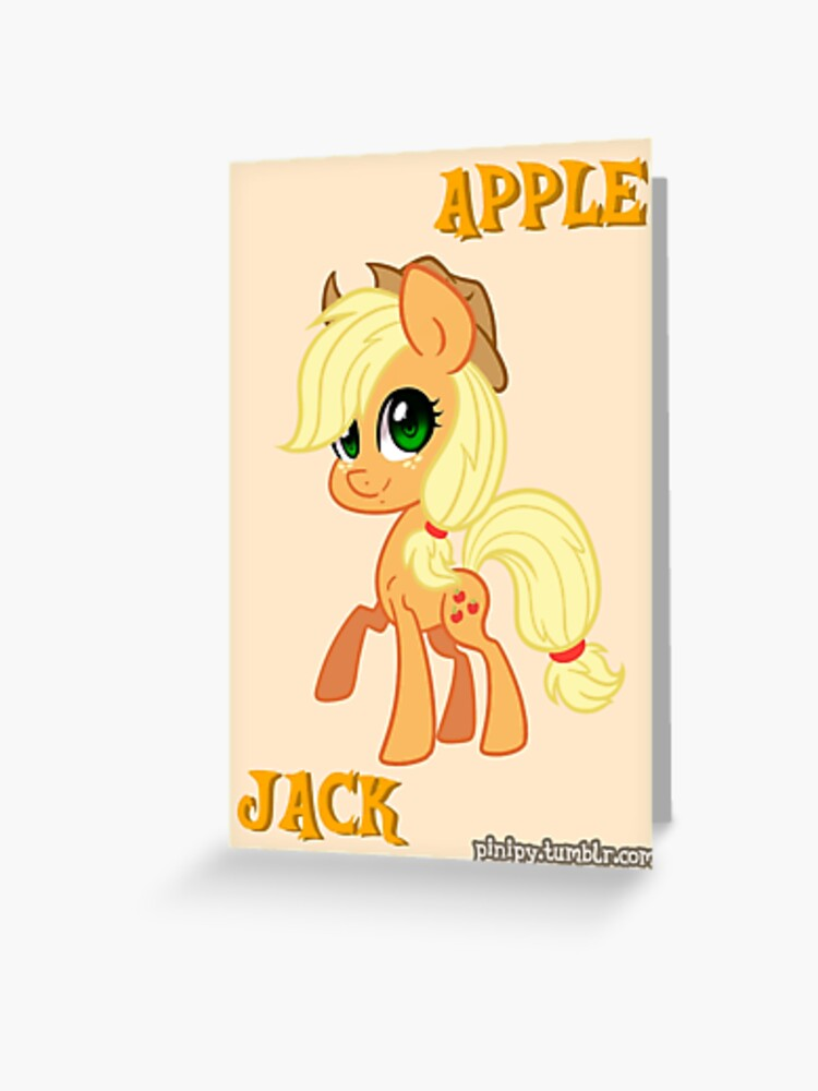 My Little Pony Applejack Greeting Card By Pinipy Redbubble