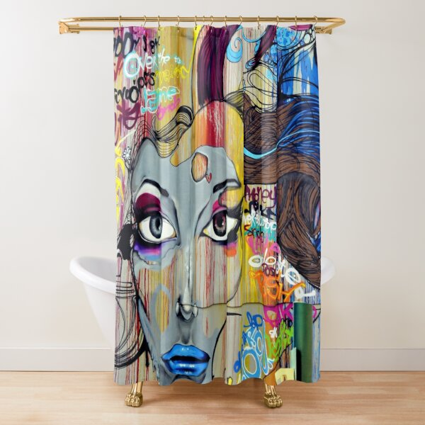 punk shower curtains redbubble