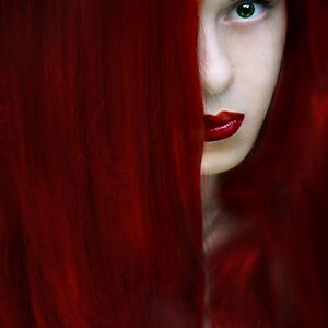While her lips are still red