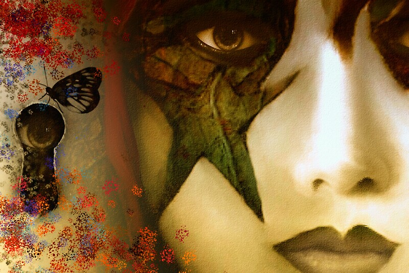 Secrets of My Soul You Will Never Understand…angry red, passion blue, but mostly shades of green by © CarmenHolly