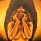Apex - 8x10 Oils on Canvas nude art by Jennie Rosenbaum