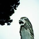 Merlion statue in Sentosa