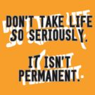 Don't Take Life so Seriously - It Isn't Permanent