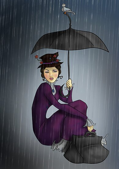 """Mary Poppins in the Rain"" by CatAstrophe 