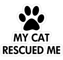 My Cat Rescued Me Cat Lover Stickers