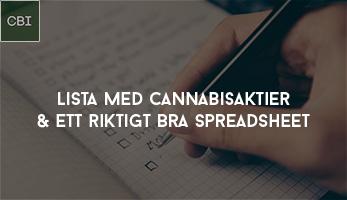 Lista med Cannabisaktier + riktigt bra spreadsheet