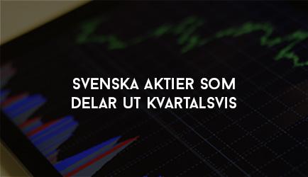 Svenska Aktier som delar ut Kvartalsvis