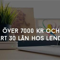 Över 7000 kr och snart 30 lån hos Lendify