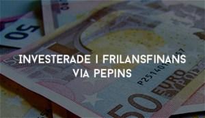 Investerade i FrilansFinans via Pepins