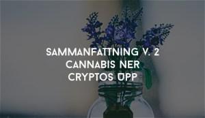 Cannabis Ner Cryptos Upp