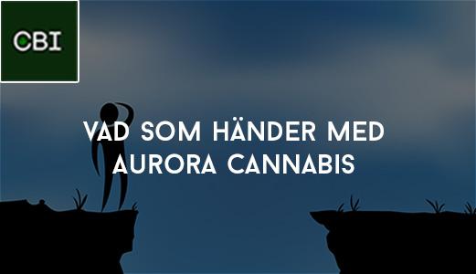 Vad som händer med Aurora Cannabis