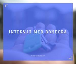 Intervju med Bondora