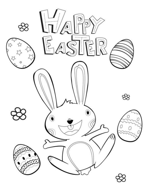 Happy Easter Coloring pages to print