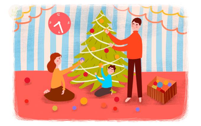 Короткие новогодние стихи для самых маленьких