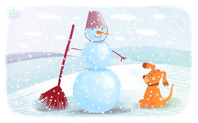Сказка Снеговик