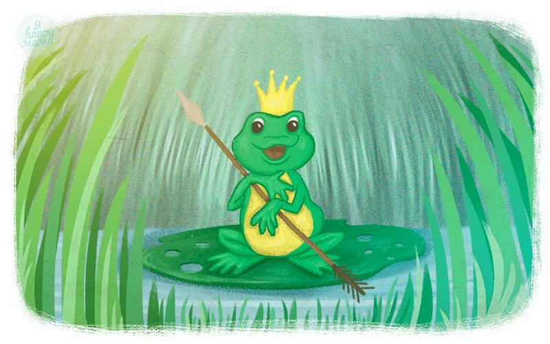 Шебби шик, картинка с царевной лягушкой