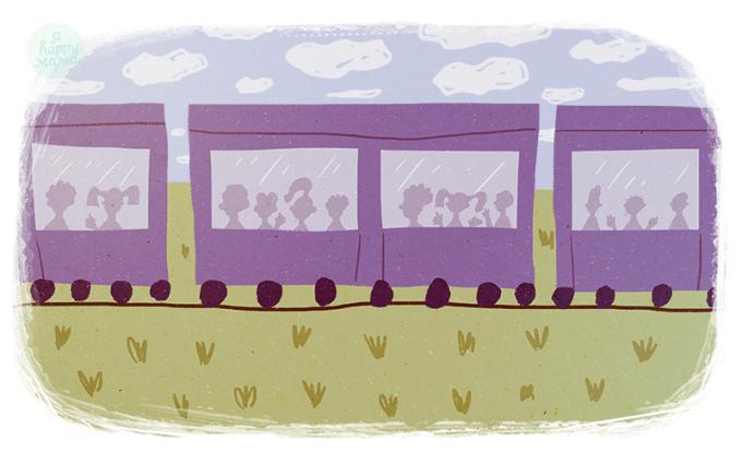 Песня Голубой вагон из мультфильма «Чебурашка»