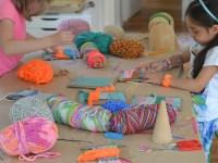 Интересное ткачество с детьми