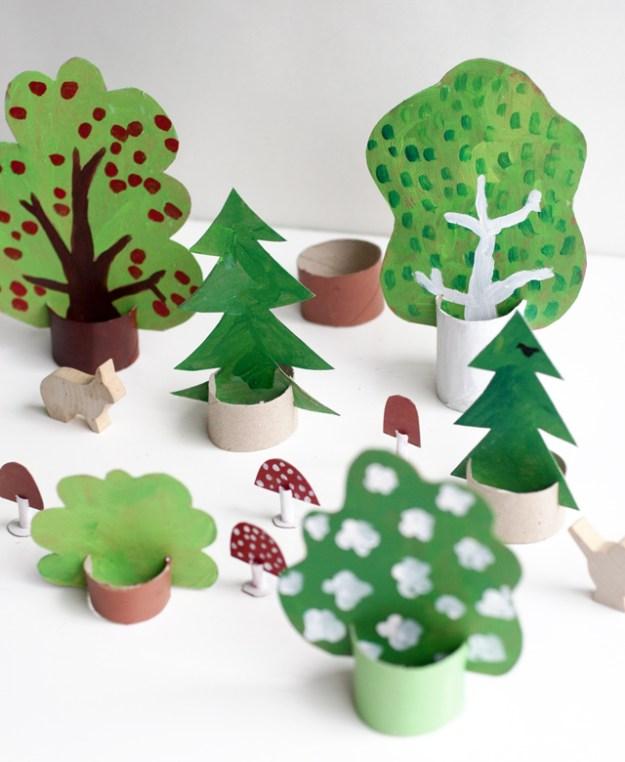 Картонный лес