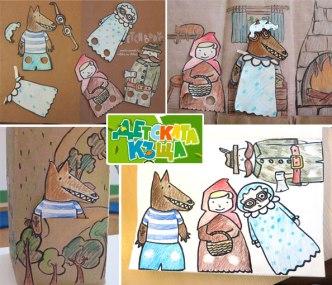 Делаем интересный бумажный кукольный театр для деток