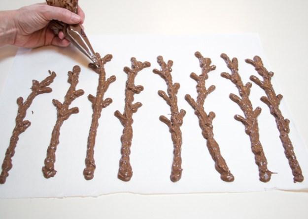 шоколадные ветки