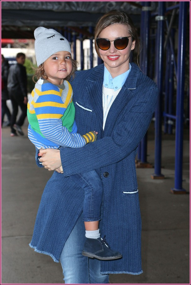 Miranda Kerr Out With Her Son Flynn