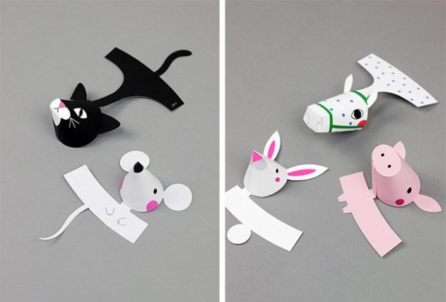 бумажные игрушки своими руками