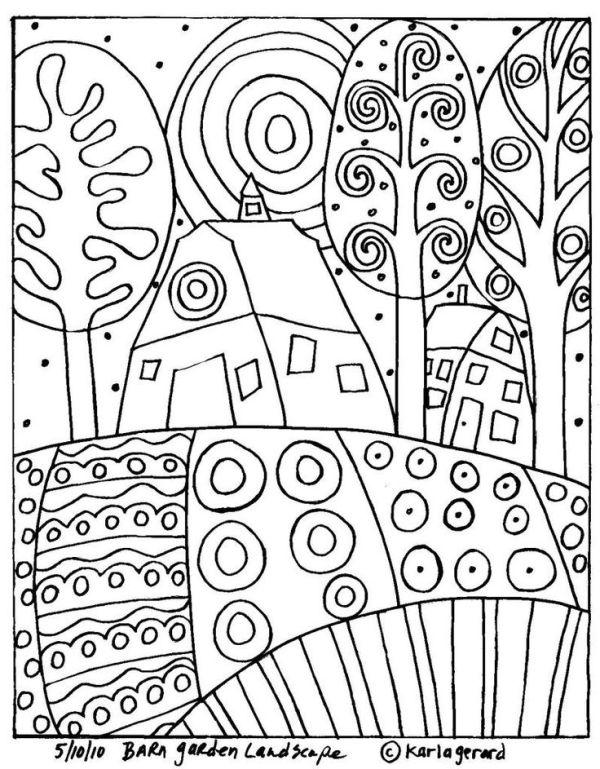 раскраски Карла Жерар 7