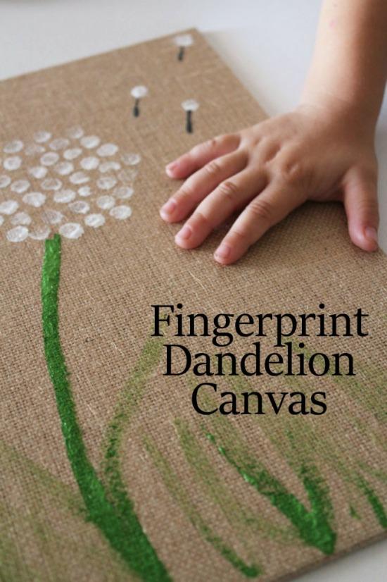 рисуем картину пальцами