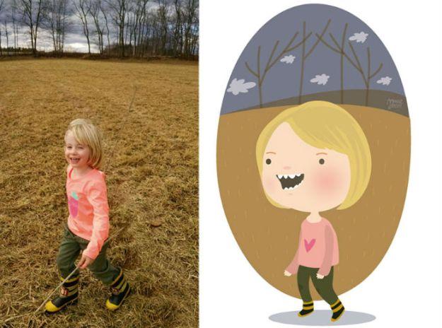 фотографии и рисунки с детьми