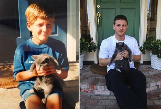 животные и дети выросли
