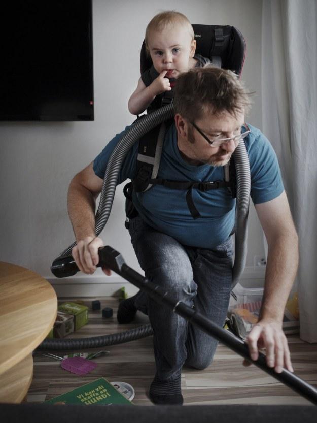 как папы справляются с детьми