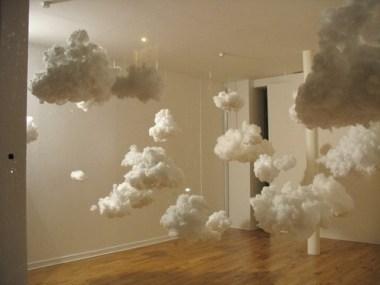 Пушистые облака для декора детской своими руками