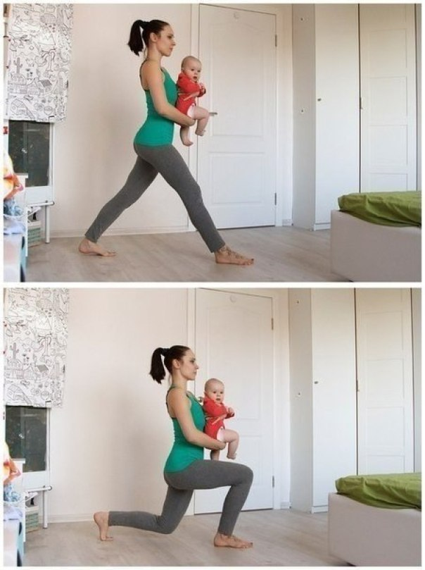 фитнесс с ребенком