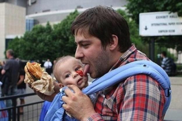 папы с детьми