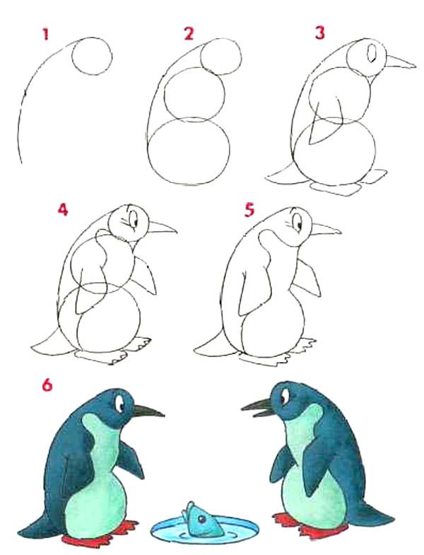 рисуем пингвина