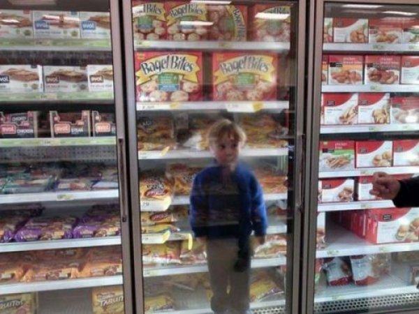 с детьми в магазин