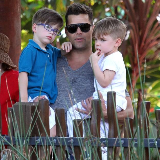 Ricky Martin Visits Taronga Zoo With Sons, Valentino Martin & Matteo Martin