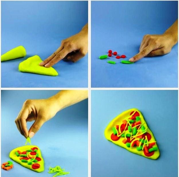 лепим пиццу